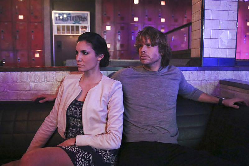 """Seoul Man"" -- Pictured: Daniela Ruah (Special Agent Kensi Blye) and Eric Christian Olsen (LAPD Liaison Marty Deeks). While assigned to protective details for the commander of the Pacific Command, the team searches for a North Korean spy, on NCIS: LOS ANGELES, Monday, March 28 (9:59-11:00, ET/PT), on the CBS Television Network. Photo: Cliff Lipson/CBS ©2016 CBS Broadcasting, Inc. All Rights Reserved"