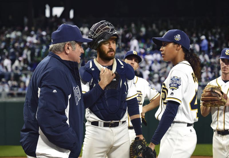 Dan Lauria, Mark-Paul Gosselaar and Kylie Bunbury in PITCH FOX