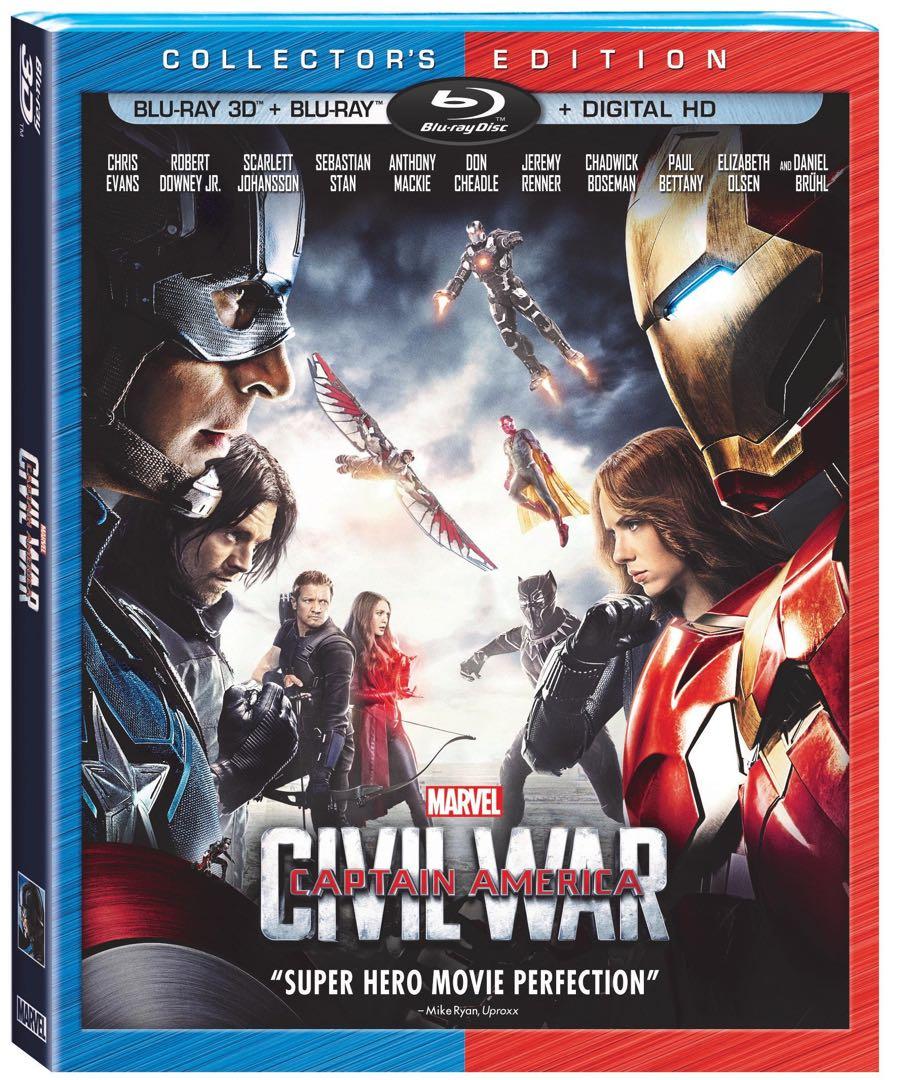Captain America Civil War Bluray 3D Collector's Edition