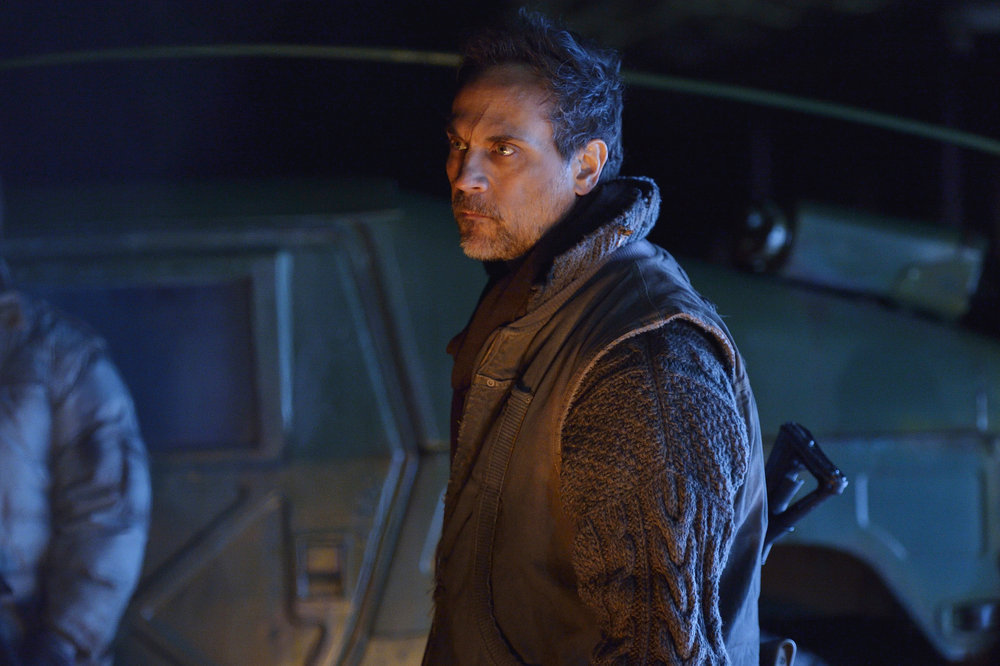 "12 MONKEYS -- ""Blood Washed Away"" Episode 212 -- Pictured: Todd Stashwick as Deacon -- (Photo by: Ben Mark Holzberg/Syfy)"
