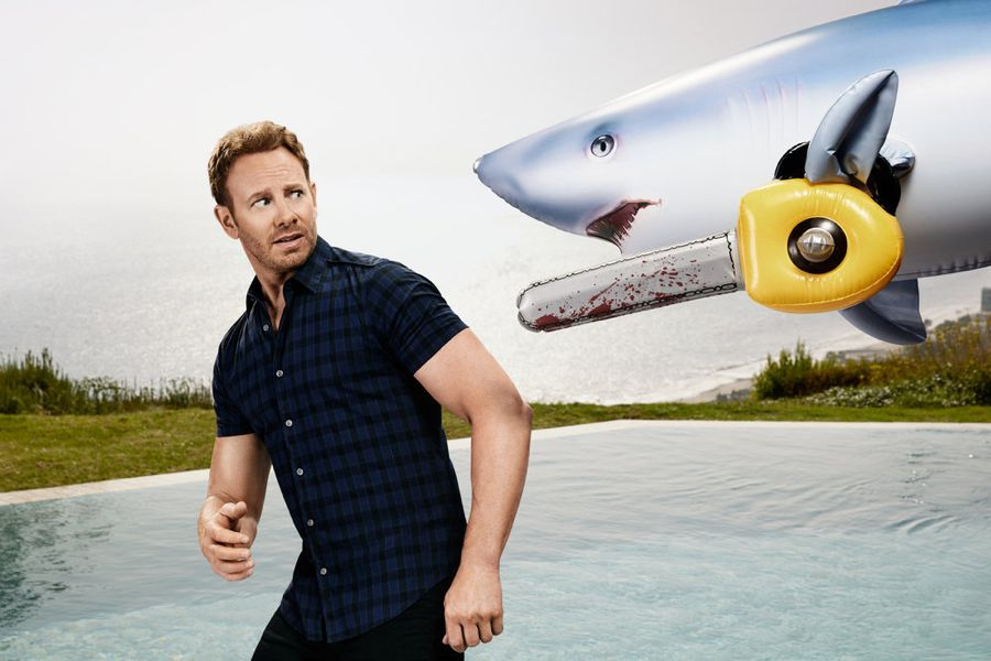 SHARKNADO: THE 4TH AWAKENS -- Season:2016 -- Pictured: Ian Ziering as Fin Shepard -- (Photo by: Justin Stephens/Syfy)