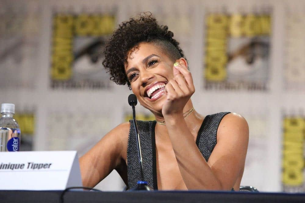 """COMIC-CON INTERNATIONAL: SAN DIEGO -- """"The Expanse Panel"""" -- Pictured: Dominique Tipper -- (Photo by: Evans Vestal Ward/Syfy)"""
