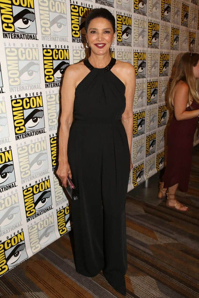 """COMIC-CON INTERNATIONAL: SAN DIEGO -- """"The Expanse Press Room"""" -- Pictured: Shohreh Aghdashloo -- (Photo by: Evans Vestal Ward/Syfy)"""
