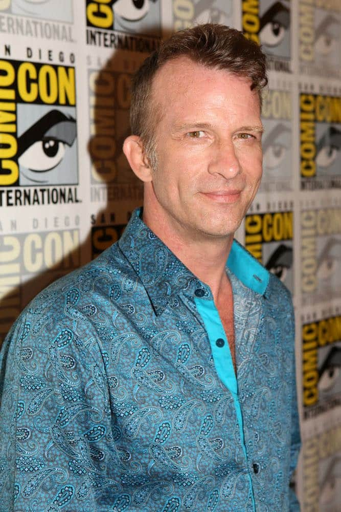 """COMIC-CON INTERNATIONAL: SAN DIEGO -- """"The Expanse Press Room"""" -- Pictured: Thomas Jane -- (Photo by: Evans Vestal Ward/Syfy)"""
