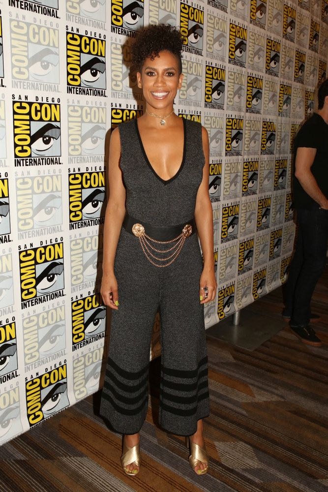 """COMIC-CON INTERNATIONAL: SAN DIEGO -- """"The Expanse Press Room"""" -- Pictured: Dominique Tipper -- (Photo by: Evans Vestal Ward/Syfy)"""