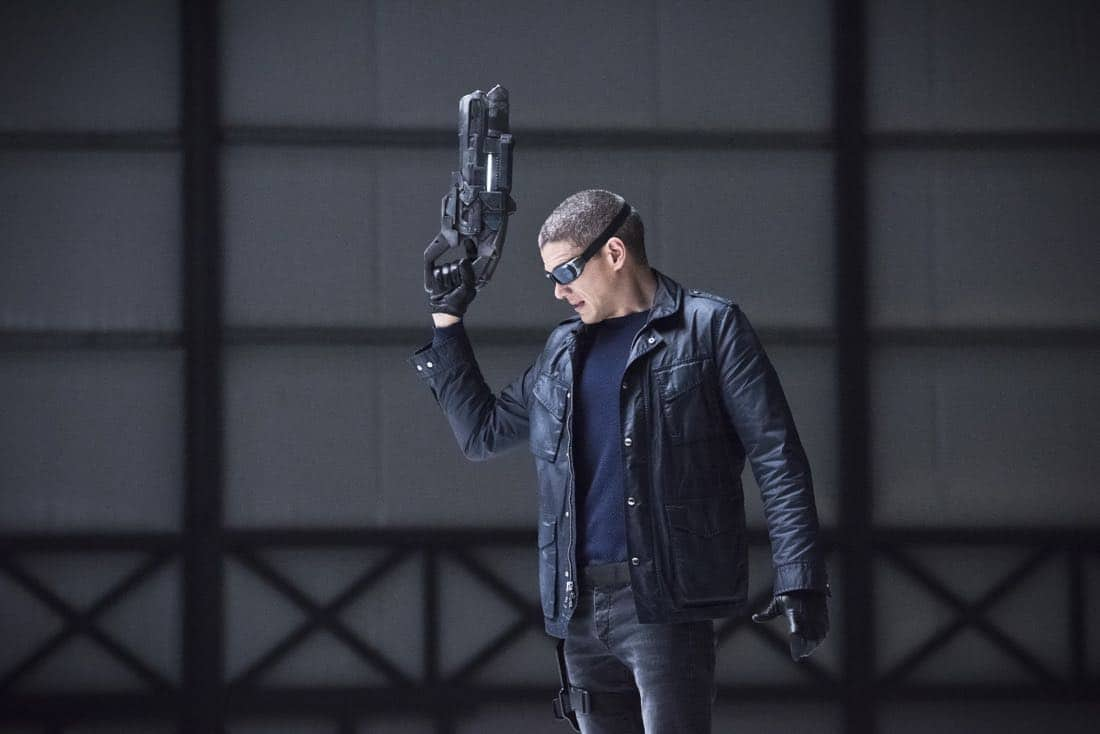 "DC's Legends of Tomorrow -- ""Last Refuge""-- Image LGN112b_0259b.jpg -- Pictured: Wentworth Miller as Leonard Snart/Captain Cold -- Photo: Dean Buscher/The CW -- © 2016 The CW Network, LLC. All Rights Reserved."