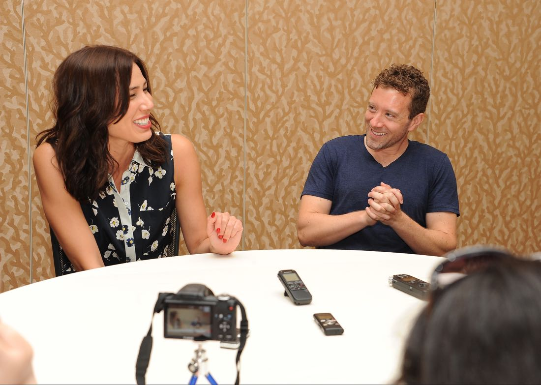 FOX FANFARE AT SAN DIEGO COMIC-CON © 2016: L-R: BONES cast members Michaela Conlin and T.J. Thyne during the BONES press room on Friday, July 22 at the FOX FANFARE AT SAN DIEGO COMIC-CON © 2016. CR: Scott Kirkland/FOX © 2016 FOX BROADCASTING