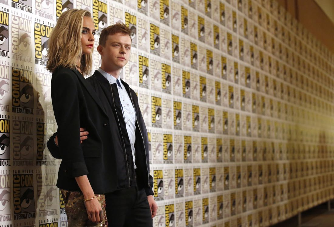 """EuropaCorp presents Luc Besson's """"Valerian and the City of a Thousand Planets"""" at Comic-Con starring Dane DeHaan and Cara Delevingne in the Hilton Bayfront Hotel, San Diego, CA on July 21, 2016. (Photo by Blair Raughley/Invision for EuropaCorp/AP Images)"""