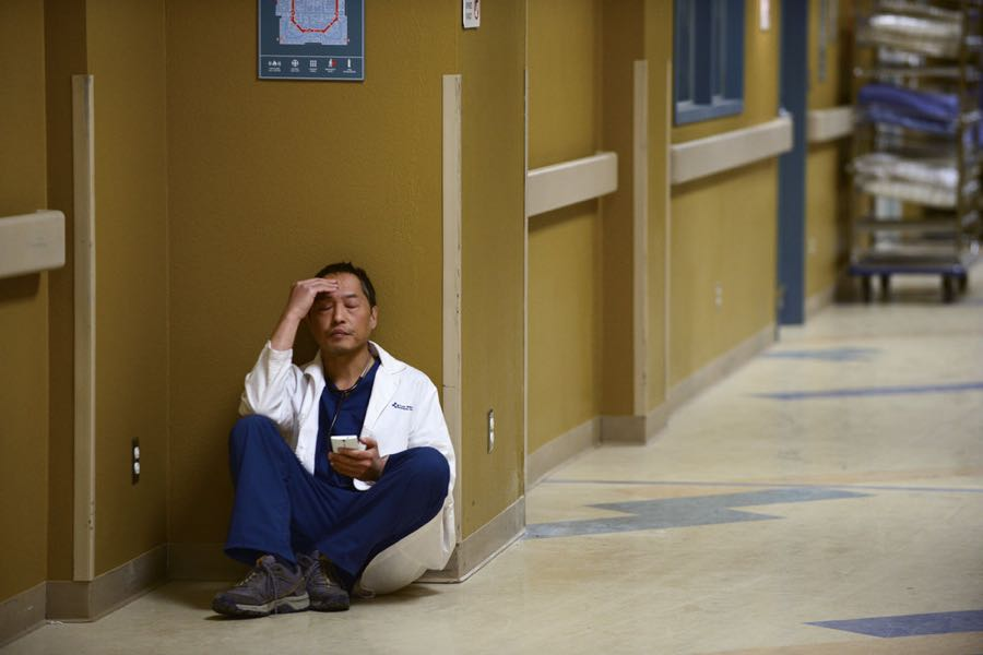 """THE NIGHT SHIFT -- """"Unexpected"""" Episode 309 -- Pictured: Ken Leung as Dr. Topher Zia -- (Photo by: Ursula Coyote/NBC)"""