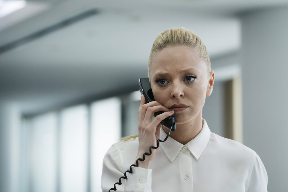 """MR. ROBOT -- """"eps2.0_unmasking.zip"""" Episode 201 -- Pictured: Portia Doubleday as Angela Moss -- (Photo by: Peter Kramer/USA Network)"""