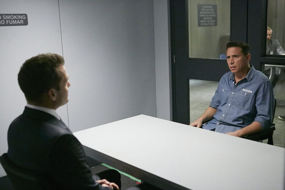 "SUITS -- ""Trust"" Episode 605 -- Pictured: Erik Palladino as Kevin Miller -- (Photo by: Ian Watson/USA Network)"