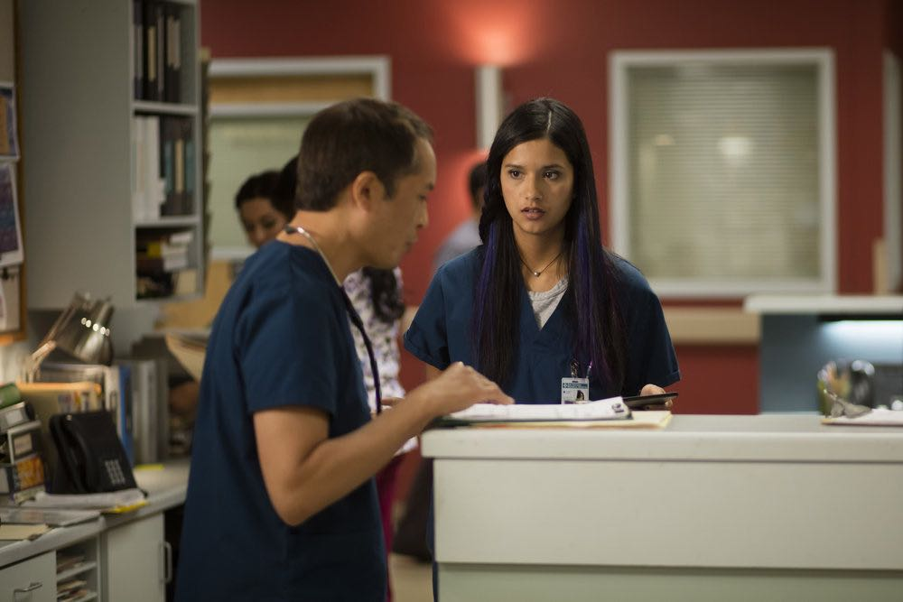 "THE NIGHT SHIFT-- ""Trust Issues"" Episode 311 -- Pictured: Tanaya Beatty as Dr. Shannon Rivera -- (Photo by: Cathy Kanavy/NBC)"