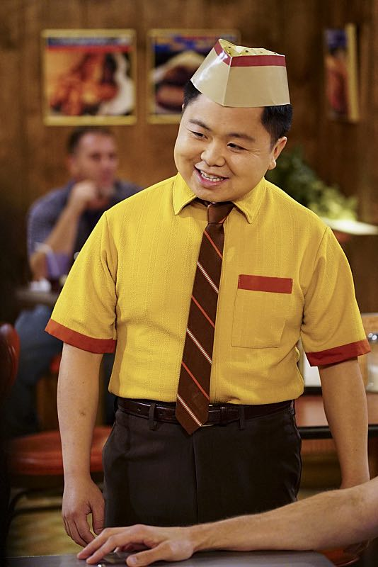 """""""And The Two Openings: Part One"""" -- Pictured: Han Lee (Matthew Moy). As Max and Caroline, now part owners of the diner, put the finishing touches on their newly converted Dessert Bar, Max deals with the aftermath of her recent breakup with Randy, and Sophie and Oleg prepare for the birth of their baby, on the sixth season premiere of 2 BROKE GIRLS, Monday, Oct. 10 (9:00-9:30 PM, ET/PT) on the CBS Television Network. Photo: Sonja Flemming/CBS ©2016 CBS Broadcasting, Inc. All Rights Reserved"""