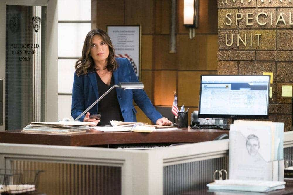 """LAW & ORDER: SPECIAL VICTIMS UNIT -- """"Imposter"""" Episode 1803 -- Pictured: Mariska Hargitay as Lieutenant Olivia Benson -- (Photo by: Michael Parmelee/NBC)"""