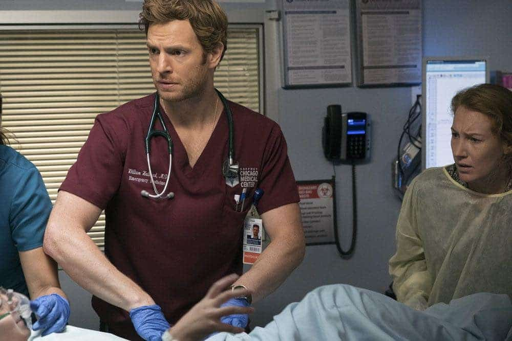 """CHICAGO MED -- """"Brother's Keeper"""" Episode 204 -- Pictured: Nick Gehlfuss as Will Halstead -- (Photo by: Elizabeth Sisson/NBC)"""