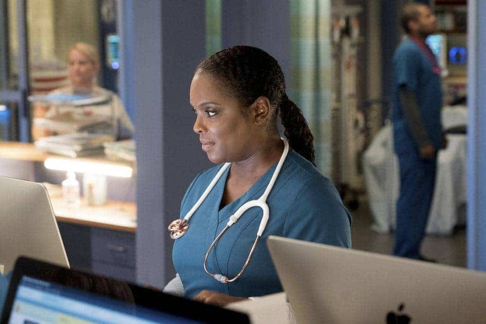 """CHICAGO MED -- """"Brother's Keeper"""" Episode 204 -- Pictured: Marlyne Barrett as Maggie Lockwood -- (Photo by: Elizabeth Sisson/NBC)"""