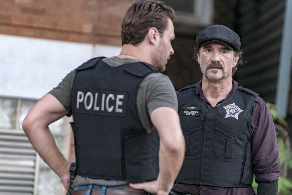 "CHICAGO P.D. -- ""Made a Wrong Turn"" Episode 402 -- Pictured: Elias Koteas as Alvin Olinsky -- (Photo by: Matt Dinerstein/NBC)"