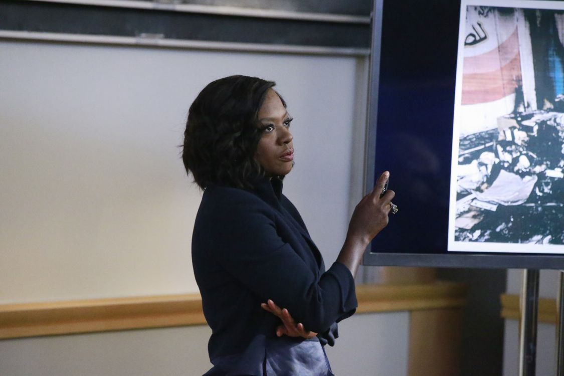 "HOW TO GET AWAY WITH MURDER - ""We're Good People Now"" - With Wallace Mahoney's murder unsolved and Frank's whereabouts unknown, the ""Keating 5"" struggle to move on with their lives as they enter into their second year of law school. Meanwhile, Annalise's reputation at Middleton University is on the line, so she creates a criminal law clinic where the students will compete to try their own pro bono cases. Annalise also wrestles with a decision involving Frank that could change everything, on the highly anticipated season premiere of ""How to Get Away with Murder,"" THURSDAY, SEPTEMBER 22 (10:00-11:00 p.m. EDT), on the ABC Television Network. (ABC/Mitch Haaseth) VIOLA DAVIS"