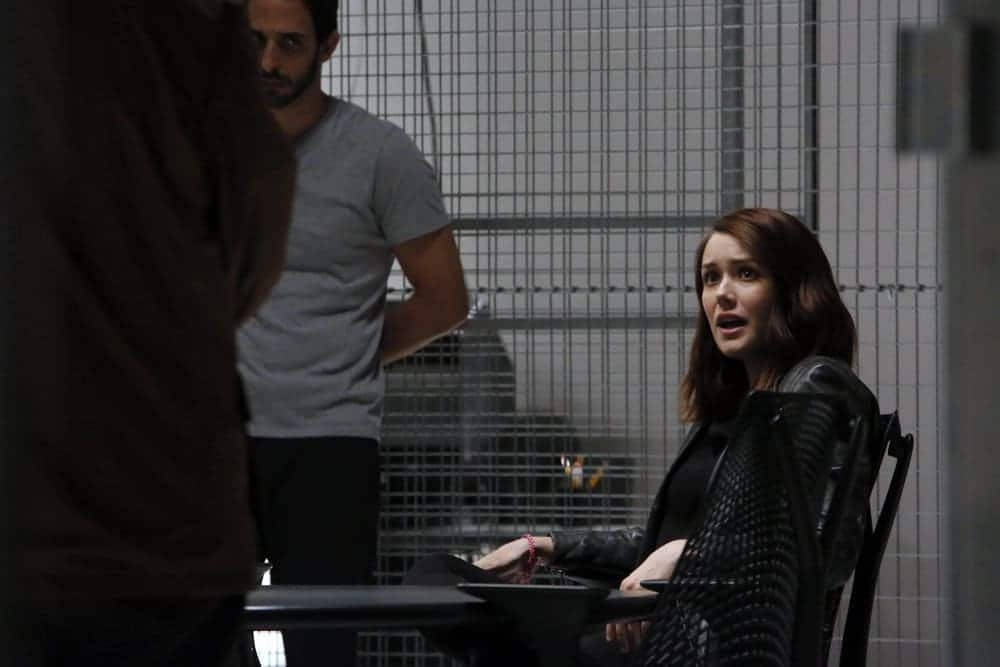 "THE BLACKLIST-- ""The Thrushes: #53"" Episode 406 -- Pictured: (l-r) Amir Arison as Aram Mojtabai, Megan Boone as Elizabeth Keen -- (Photo by: Will Hart/NBC)"