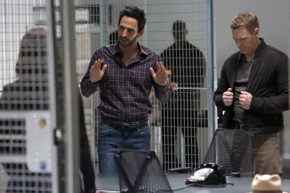 "THE BLACKLIST-- ""The Thrushes: #53"" Episode 406 -- Pictured: (l-r) Amir Arison as Aram Mojtabai, Diego Klattenhoff as Donald Ressler -- (Photo by: Will Hart/NBC)"