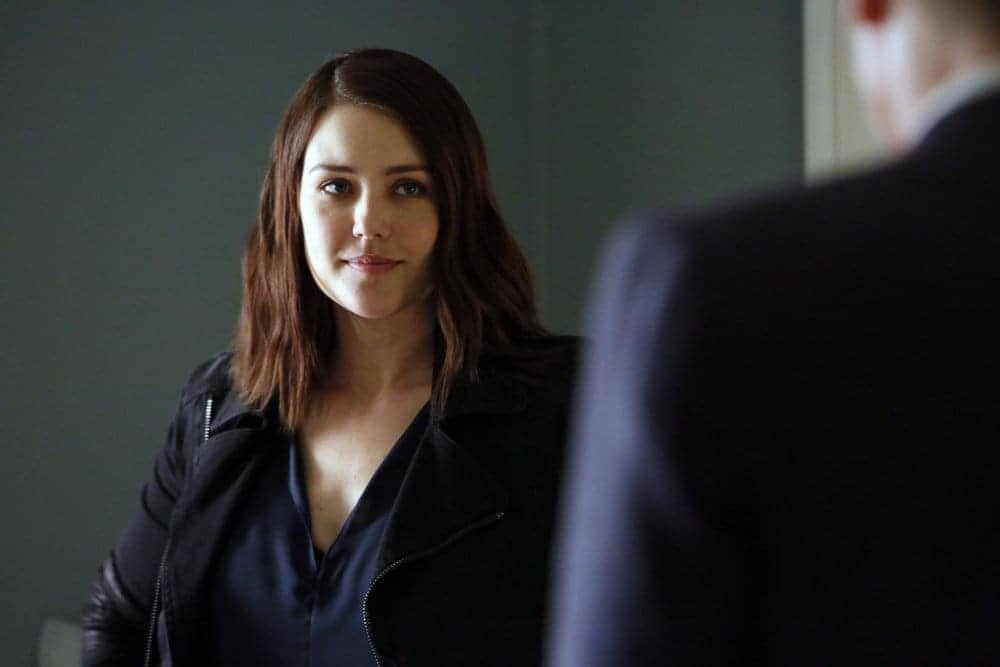 "THE BLACKLIST-- ""The Thrushes: #53"" Episode 406 -- Pictured: Megan Boone as Elizabeth Keen -- (Photo by: Will Hart/NBC)"