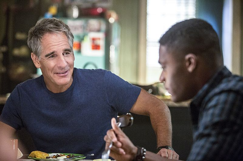"""""""One Good Man"""" -- The NCIS team reviews unorthodox training exercises after a Navy Seal candidate is found murdered weeks before his graduation. Also, a concerned Wade turns to Pride after her adopted son, Danny (Christopher Meyer), announces his plan to enter the Navy, on NCIS: New Orleans, Tuesday, Nov. 1 (10:00-11:00, ET/PT), on the CBS Television Network. Pictured L-R: Scott Bakula as Special Agent Dwayne Pride and Christopher Meyer as Danny Malloy Photo: Skip Bolen/CBS ©2016 CBS Broadcasting, Inc. All Rights Reserved"""