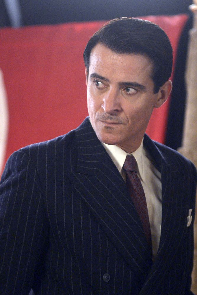 "TIMELESS -- ""Party At Castle Varlar"" Episode 103 -- Pictured: Goran Visnjic as Garcia Flynn -- (Photo by: Sergei Bachlakov/NBC)"