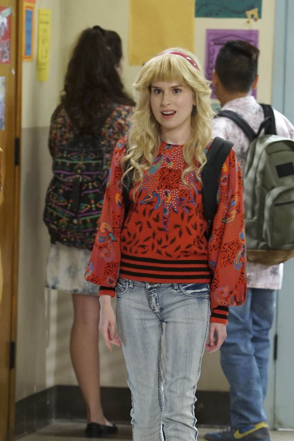 """THE GOLDBERGS - """"Stefan King"""" - Adam's love of Stephen King inspires him to try his hand at horror writing. After learning the monster in Adam's story is based off Beverly, she forces Adam to stay in on Halloween and rewrite it, hoping he depicts her as a better mother. Meanwhile, Erica is desperate to find a date to the costume dance and forces Barry go with her, on """"The Goldbergs,"""" WEDNESDAY, OCTOBER 26 (8:00-8:30 p.m. EDT), on the ABC Television Network. (ABC/Ron Tom) ALLIE GRANT"""