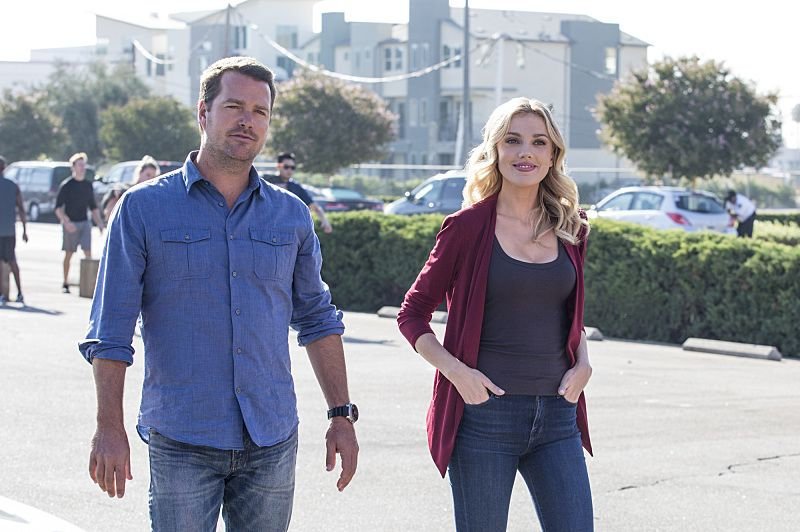 """Ghost Gun"" -- Pictured: Chris O'Donnell (Special Agent G. Callen) and Anna Kolcheck (Bar Paly). The murder of a Navy Machinist with high security clearance sends the team on a city-wide hunt tracking evidence. Also, Anna Kolcheck (Bar Paly) partners with Callen, and Sam assists Hetty in the on-going mole investigation, on NCIS: LOS ANGELES, Sunday, Oct. 23 (8:30-9:30 PM, ET/8:00-9:00 PM, PT), on the CBS Television Network. Photo: Erik Voake/CBS ©2016 CBS Broadcasting, Inc. All Rights Reserved."