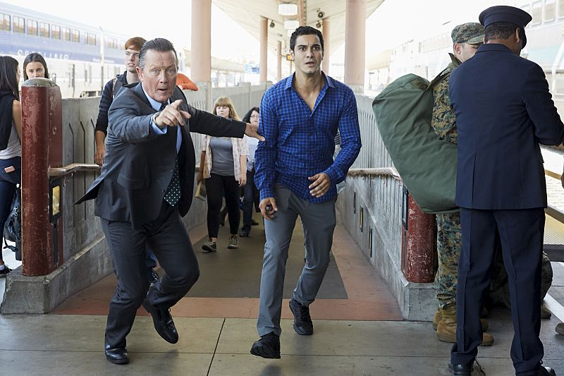 """""""Little Boy Lost"""" -- Team Scorpion must find a boy from Ralph's class who goes missing on a field trip after he accidentally has a run-in with a deadly criminal. Also, Toby gets closer to finding out the identity of Happy's husband, on SCORPION, Monday, Oct. 17 (10:00-11:00 PM, ET/PT), on the CBS Television Network. Pictured: Robert Patrick, Elyes Gabel. Photo: Erik Voake/CBS ©2016 CBS Broadcasting, Inc. All Rights Reserved"""