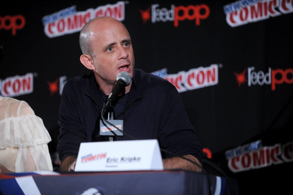 "NEW YORK COMIC CON 2016 -- ""Timeless"" Panel -- Pictured: Executive Producer Eric Kripke on Sunday, October 9, 2016 from the Javits Center in New York, NY -- (Photo by: Brad Barket/NBC)"