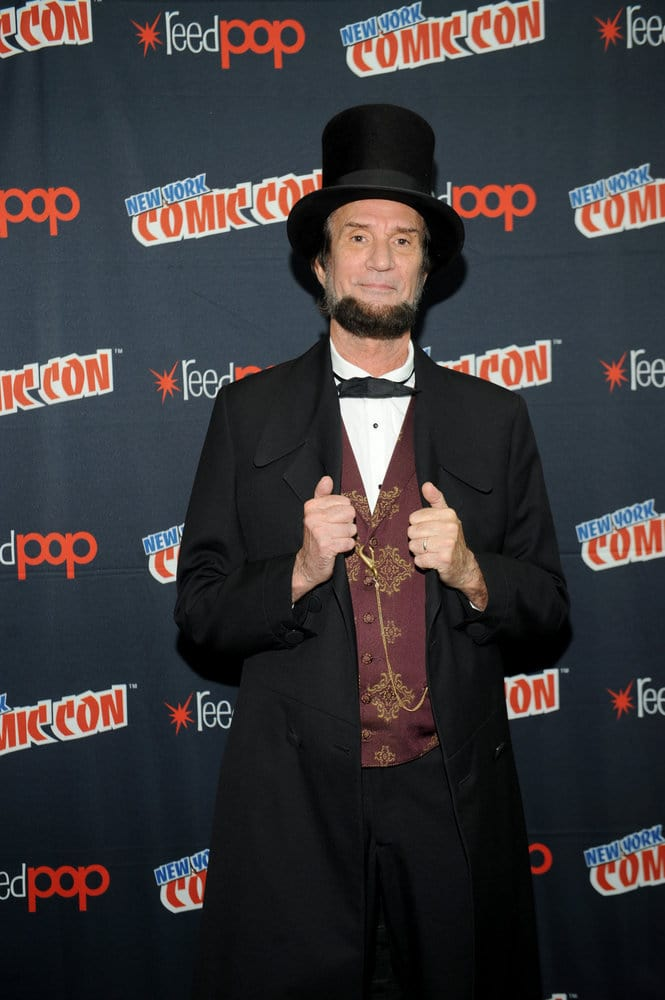 "NEW YORK COMIC CON 2016 -- ""Timeless"" Press Room -- Pictured: Michael Krebs as Abraham Lincoln on Sunday, October 9, 2016 from the Javits Center in New York, NY -- (Photo by: Brad Barket/NBC)"