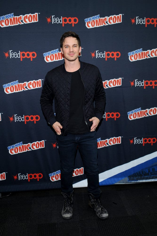 "NEW YORK COMIC CON 2016 -- ""Timeless"" Press Room -- Pictured: Matt Lanter on Sunday, October 9, 2016 from the Javits Center in New York, NY -- (Photo by: Brad Barket/NBC)"