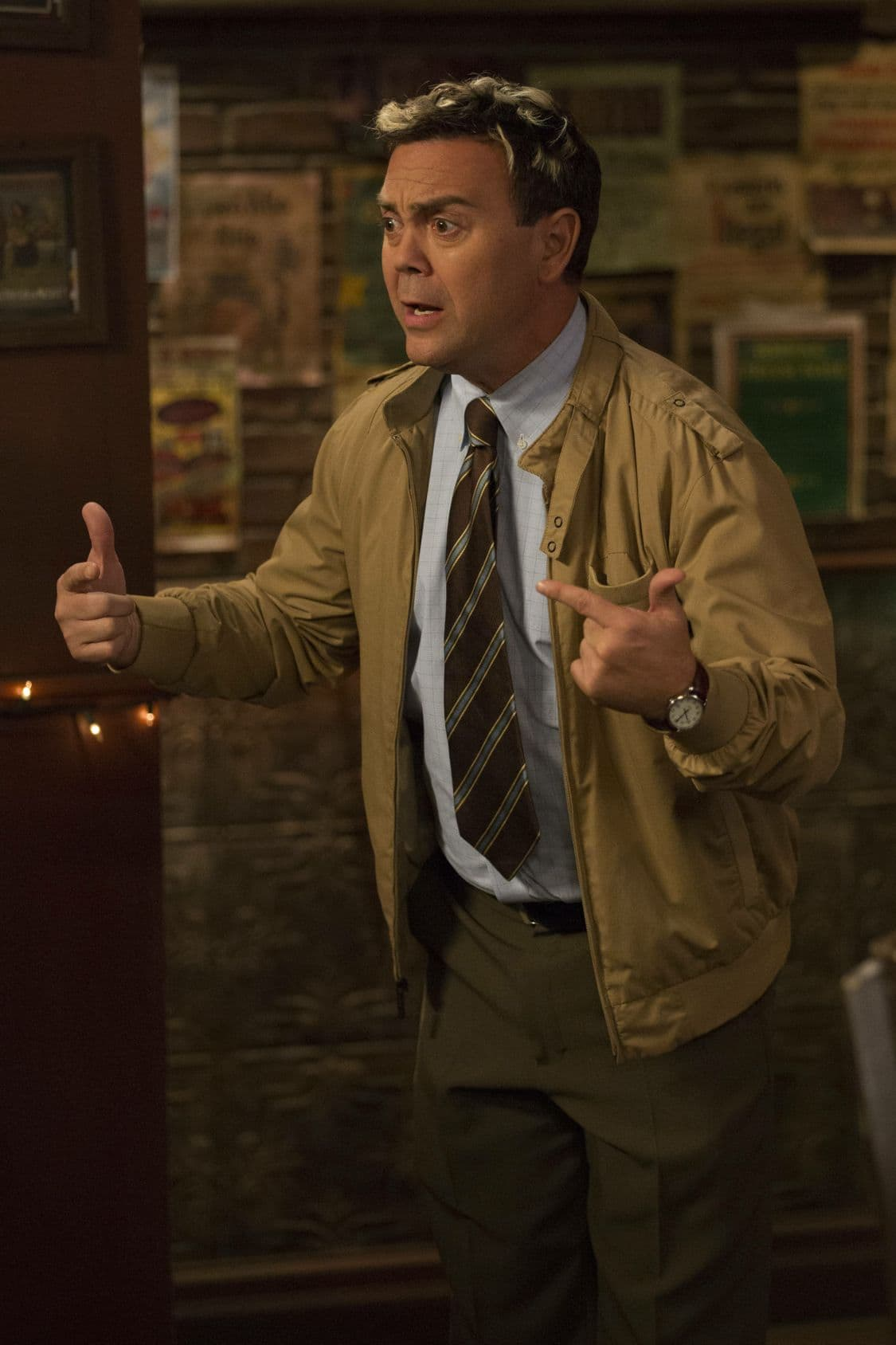 "BROOKLYN NINE-NINE: Joe Lo Truglio in the special ""The Night Shift"" crossover episode of BROOKLYN NINE-NINE airing Tuesday, Oct. 11 (8:00-8:31 PM ET/PT) on FOX. ©2016 Fox Broadcasting Co. Cr: John P Fleenor/FOX."
