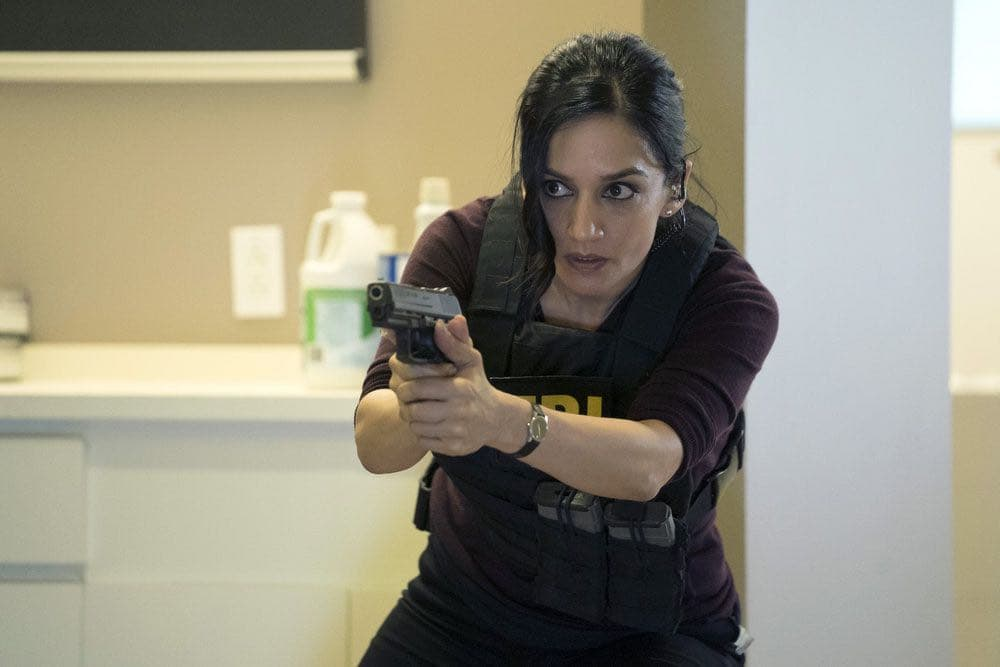 """BLINDSPOT-- """"Condone Untidiest Thefts"""" Episode 205 -- Pictured: Archie Panjabi as Nas Kamal -- (Photo by: Peter Kramer/NBC)"""