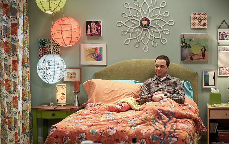 """The Cohabitation Experimentation"" -- Pictured: Sheldon Cooper (Jim Parsons). When Amy's apartment floods, she proposes a ""cohabitation experiment"" with Sheldon. Also, Howard and Bernadette are upset when Koothrappali learns the gender of the baby before them, on THE BIG BANG THEORY, Monday, Oct. 10 (8:00-8:31 PM, ET/PT), on the CBS Television Network. Photo: Michael Yarish/Warner Bros. Entertainment Inc. © 2016 WBEI. All rights reserved."