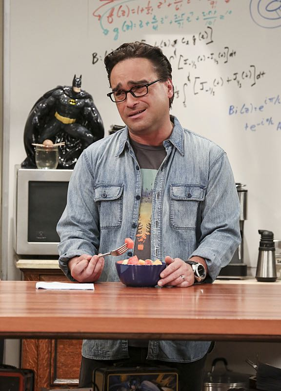 """The Cohabitation Experimentation"" -- Pictured: Leonard Hofstadter (Johnny Galecki). When Amy's apartment floods, she proposes a ""cohabitation experiment"" with Sheldon. Also, Howard and Bernadette are upset when Koothrappali learns the gender of the baby before them, on THE BIG BANG THEORY, Monday, Oct. 10 (8:00-8:31 PM, ET/PT), on the CBS Television Network. Photo: Michael Yarish/Warner Bros. Entertainment Inc. © 2016 WBEI. All rights reserved."