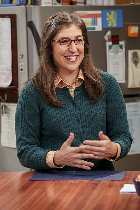 """The Cohabitation Experimentation"" -- Pictured: Amy Farrah Fowler (Mayim Bialik). When Amy's apartment floods, she proposes a ""cohabitation experiment"" with Sheldon. Also, Howard and Bernadette are upset when Koothrappali learns the gender of the baby before them, on THE BIG BANG THEORY, Monday, Oct. 10 (8:00-8:31 PM, ET/PT), on the CBS Television Network. Photo: Michael Yarish/Warner Bros. Entertainment Inc. © 2016 WBEI. All rights reserved."