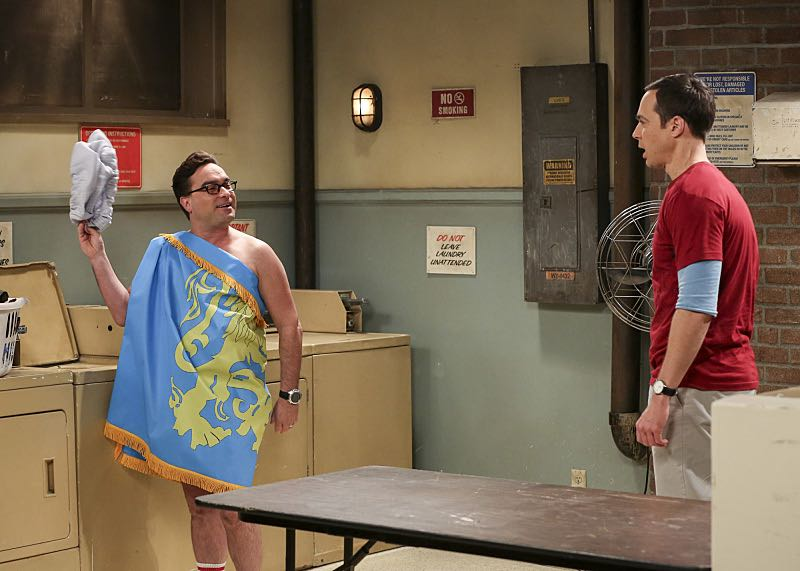 """""""The Property Division Collision"""" -- Pictured: Leonard Hofstadter (Johnny Galecki) and Sheldon Cooper (Jim Parsons). Sheldon and Leonard try to divvy up their shared belongings, but can't agree on anything. Also, Koothrappali and Stuart fight to be the most helpful during Bernadette's final weeks of pregnancy, on THE BIG BANG THEORY, Thursday, Dec. 1 (8:00-8:31 PM, ET/PT), on the CBS Television Network. Christopher Lloyd guest stars as Theodore. Photo: Michael Yarish/Warner Bros. Entertainment Inc. © 2016 WBEI. All rights reserved."""