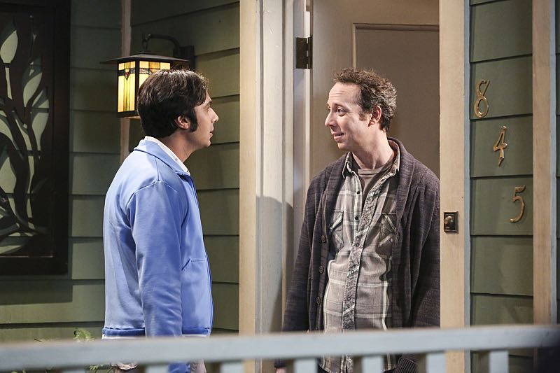 """""""The Property Division Collision"""" -- Pictured: Rajesh Koothrappali (Kunal Nayyar) and Stuart (Kevin Sussman).Sheldon and Leonard try to divvy up their shared belongings, but can't agree on anything. Also, Koothrappali and Stuart fight to be the most helpful during Bernadette's final weeks of pregnancy, on THE BIG BANG THEORY, Thursday, Dec. 1 (8:00-8:31 PM, ET/PT), on the CBS Television Network. Christopher Lloyd guest stars as Theodore. Photo: Michael Yarish/Warner Bros. Entertainment Inc. © 2016 WBEI. All rights reserved."""