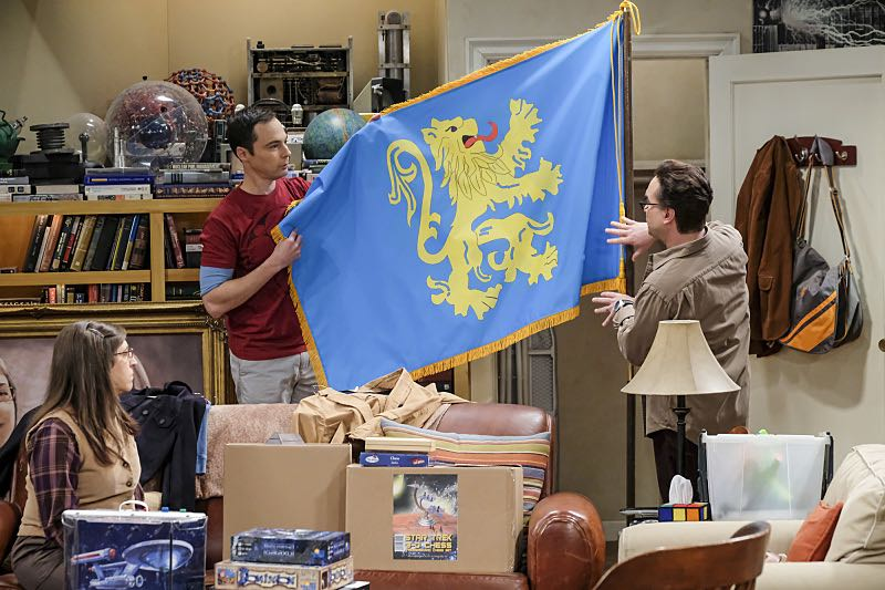 """""""The Property Division Collision"""" -- Pictured: Amy Farrah Fowler (Mayim Bialik), Sheldon Cooper (Jim Parsons) and Leonard Hofstadter (Johnny Galecki). Sheldon and Leonard try to divvy up their shared belongings, but can't agree on anything. Also, Koothrappali and Stuart fight to be the most helpful during Bernadette's final weeks of pregnancy, on THE BIG BANG THEORY, Thursday, Dec. 1 (8:00-8:31 PM, ET/PT), on the CBS Television Network. Christopher Lloyd guest stars as Theodore. Photo: Darren Michaels/Warner Bros. Entertainment Inc. © 2016 WBEI. All rights reserved."""