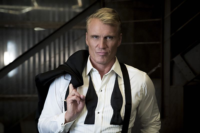 """Arrow -- """"So It Begins"""" -- Image AR506a_BTS_0246b.jpg -- Pictured: Dolph Lundgren as Konstantin Kovar -- Photo: Katie Yu/The CW -- © 2016 The CW Network, LLC. All Rights Reserved."""