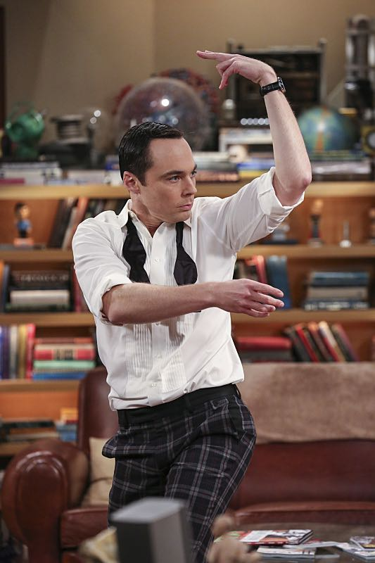 """""""The Brain Bowl Incubation"""" -- Pictured: Sheldon Cooper (Jim Parsons). After a successful experiment combining their genes, Sheldon will stop at nothing to convince Amy they should procreate. Also, Koothrappali is embarrassed to tell the gang what the new woman he's dating does for a living, on THE BIG BANG THEORY, Thursday, Nov. 10 (8:00-8:31 PM, ET/PT), on the CBS Television Network. Photo: Michael Yarish/Warner Bros. Entertainment Inc. © 2016 WBEI. All rights reserved."""