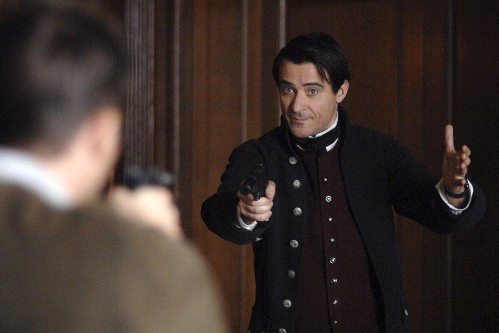 "TIMELESS -- ""The Capture of Benedict Arnold"" Episode 109 -- Pictured: Goran Visnjic as Garcia Flynn -- (Photo by: Sergei Bachlakov/NBC)"