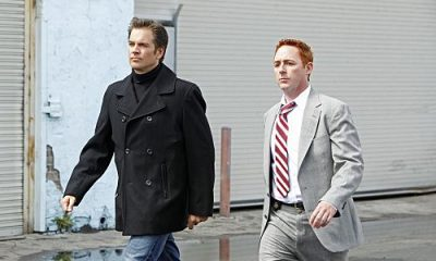 """""""Baltimore"""" - After Tony's (Michael Weatherly, left) ex-partner, Danny Price (guest star Scott Grimes, right), appears to be the Port-to-Port Killer's latest victim, he revisits his days as a detective in Baltimore, including his first encounter with Gibbs, on NCIS, Tuesday, May 3 (8:00-9:00 PM, ET/PT) on the CBS Television Network. Photo: Monty Brinton/CBS ©2011 CBS Broadcasting Inc. All Rights Reserved"""