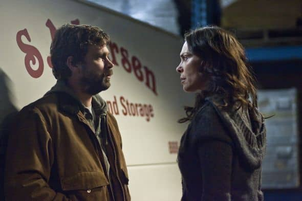 Belko Royce (Brendan Sexton III) and Mitch Larsen (Michelle Forbes) - The Killing - Season 1, Episode 12 - Photo by James Dittiger - KILL_032211_0288.jpg