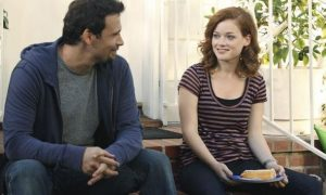 "SUBURGATORY - ""The Barbecue"" - After Ryan Shay (Parker Young) is goaded into kissing Tessa, she's shocked (and a little disgusted) to find there's serious chemistry between them. George finds out that, as the new neighbor on the block, he has to host ""the barbecue"" or face being ostracized, on ""Suburgatory,"" WEDNESDAY, OCTOBER 5 (8:30-9:00 p.m., ET) on the ABC Television Network. (ABC/KAREN NEAL) JEREMY SISTO, JANE LEVY"