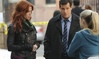 """""""Lost Things"""" -- Carrie (Poppy Montgomery) and Al (Dylan Walsh) investigate the death of a public defender, only to discover that the killer has a larger plan which may lead to a second murder, on UNFORGETTABLE, Tuesday, Nov 8 (10:00 – 11:00 PM ET/PT) on the CBS Television Network Photo: Heather Wines/CBS ©2011 CBS Broadcasting, Inc. All Rights Reserved #Unforgettable"""