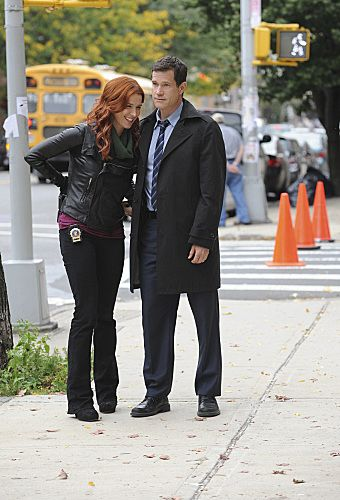 """Lost Things""  – Poppy Montgomery to shoot a scene as her character investigates the death of a public defender, on UNFORGETTABLE, Tuesday, Nov 8 (10:00 – 11:00 PM ET/PT) on the CBS Television Network  Photo: Heather Wines/CBS ©2011 CBS Broadcasting, Inc. All Rights Reserved #Unforgettable"