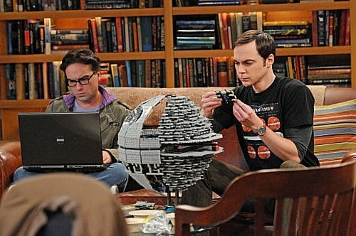 """The Isolation Permutation"" -- Amy is crushed when Bernadette and Penny go shopping for wedding dresses without her, on THE BIG BANG THEORY, Thursday, Nov. 3 (8:00 - 8:31 PM, ET/PT) on the CBS Television Network.  Pictured left to right: Johnny Galecki and Jim Parsons Photo: Michael Yarish/Warner Bros.  ©2011 Warner Bros. Television. All Rights Reserved"